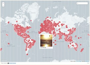 A Visualization of Sunrise and Sunset Photos Being Snapped Around the World