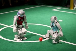 5 years: Similarly, robots will be able to communicate with each other to coordinate a plan.