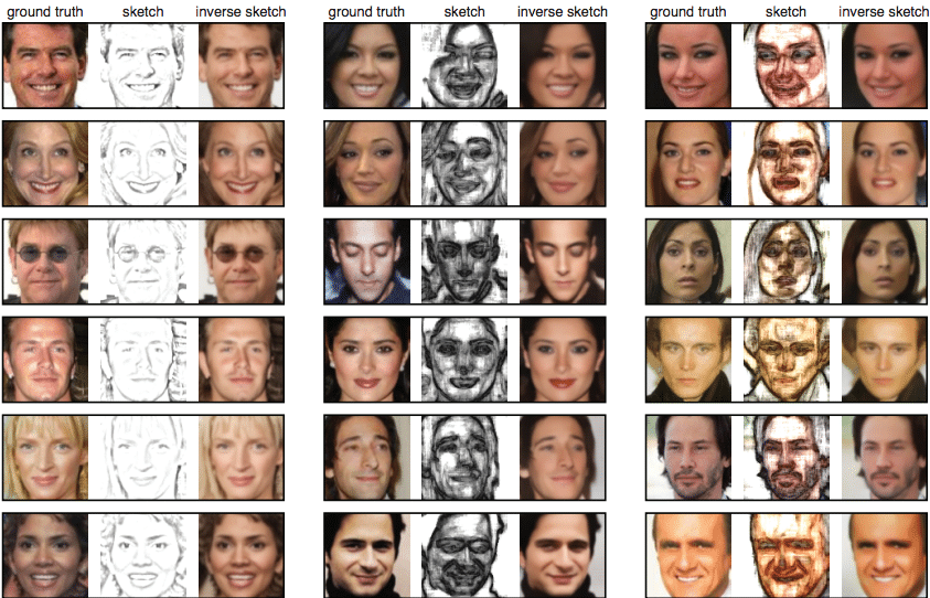 Researchers use neural networks to turn face sketches into photos