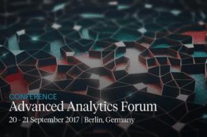 Advanced Analytics Forum 2017 Berlin